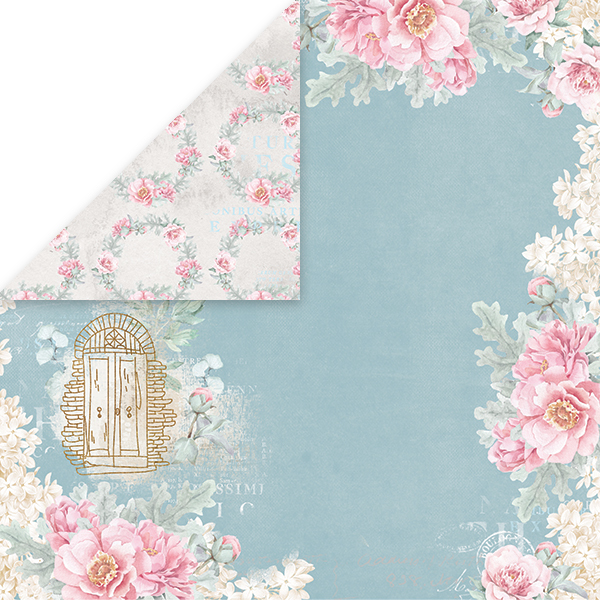 CP-PW06 PASTEL WEDDING Scrapbooking single paper 12x12, 200gsm