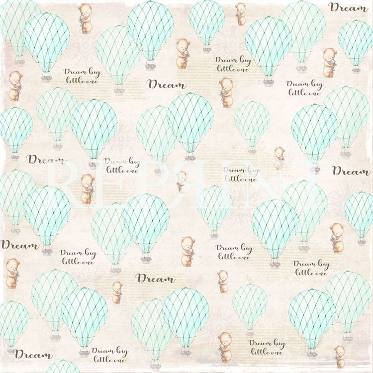 RP0226 Dream Big Collection Patterned paper 12x12, 200 gm Blue Balloons Patterned paper 12x12, 200 g