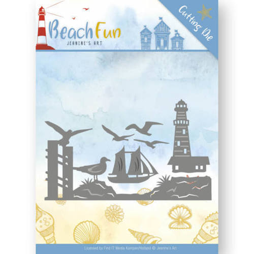 JAD10039 Dies - Jeanine's Art - Beach Fun - Lighthouse Border