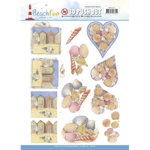 SB10273 3D Push Out - Jeanine's Art - Beach Fun - Seashells