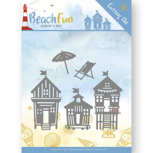 JAD10040 Dies - Jeanine's Art - Beach Fun - Beach Houses