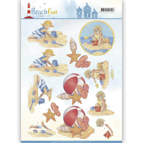 CD11067 3D knipvel - Jeanine's Art - Beach Fun - Playing in the Sun