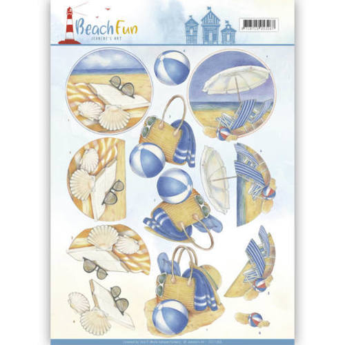CD11069 3D knipvel - Jeanine's Art - Beach Fun - Relax