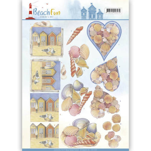 CD11070 3D knipvel - Jeanine's Art - Beach Fun - Seashells