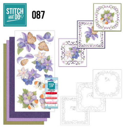 STDO087 Stitch and Do 87 - Purple Flowers