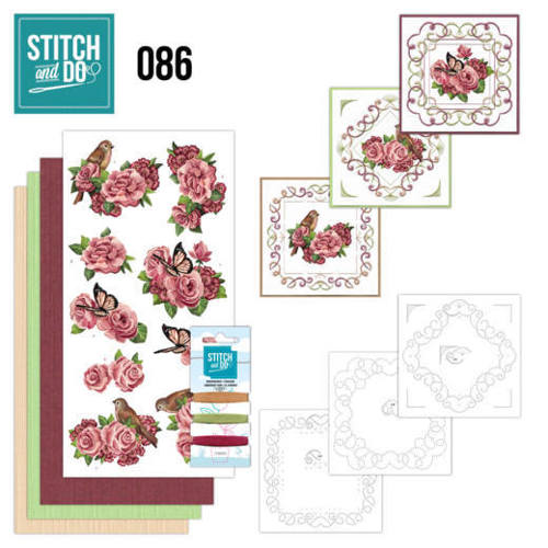 STDO086 Stitch and Do 86 - Birds and Roses