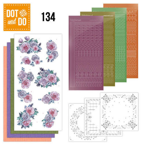 DODO134 Dot and Do 134 - Purple Flowers