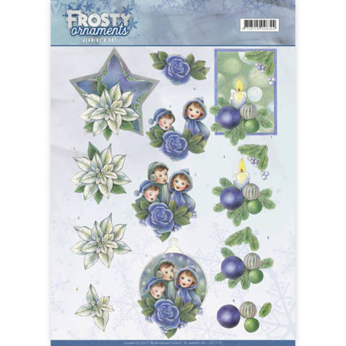 CD11130 3D knipvel - Jeanine's Art - Frosty Ornaments - Blue Ornaments