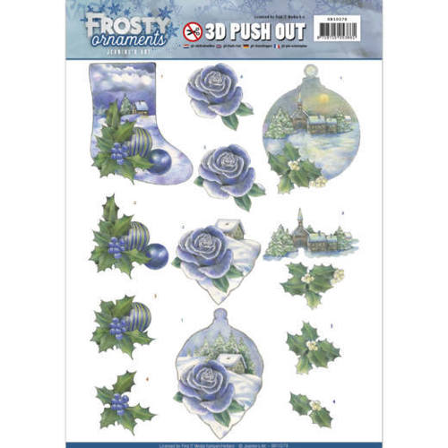 SB10278 3D Push Out - Jeanine's Art - Frosty Ornaments - Snowy Landscapes