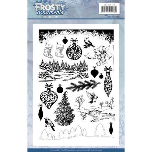 JACS10017 Clearstamp - Jeanine's Art - Frosty Ornaments