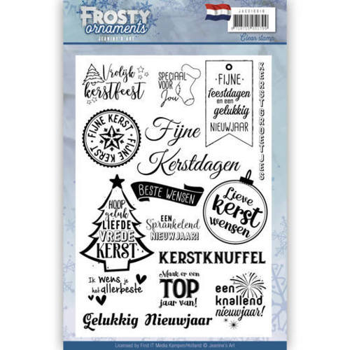 JACS10018 Textstamp - Jeanine's Art - Frosty Ornaments - NL