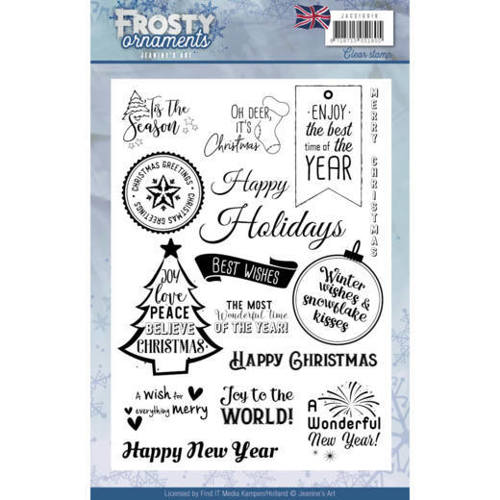 JACS10019 Textstamp - Jeanine's Art - Frosty Ornaments - ENG