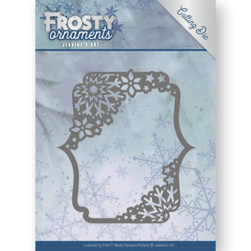 JAD10042 Dies - Jeanine's Art - Frosty Ornaments - Rectangle Ornament