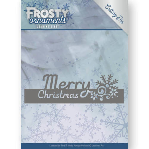 JAD10045 Dies - Jeanine's Art - Frosty Ornaments - Text Merry Christmas