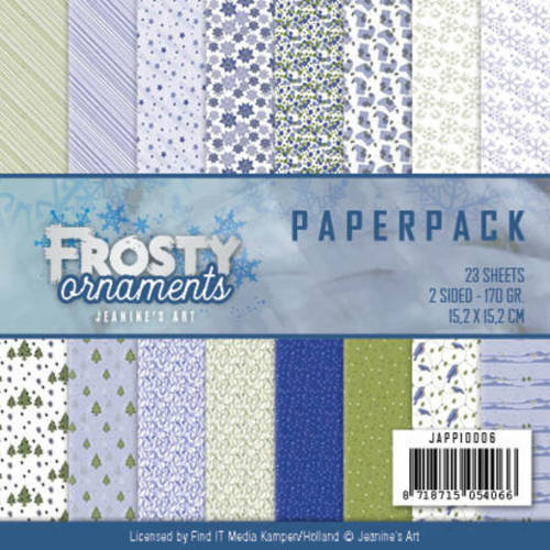 JAPP10006 Paperpack - Jeanine's Art - Frosty Ornaments