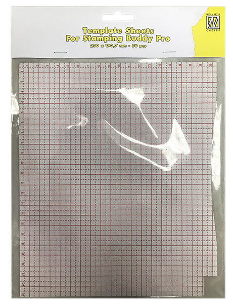 STBP001 Template sheets 50 pcs/bloc 230x193,7mm for Stampingbuddy-Pro