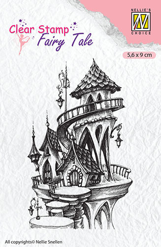 FTCS010 Clear Stamps Fairy Tale Fary Tales: fairy summer castle