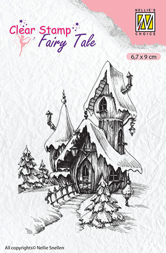 FTCS011 Clear Stamps Fairy Tale Fary Tales: fairy winter castle