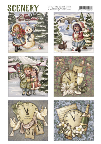 CDS10002 Die Cut Topper - Scenery - Classic Christmas