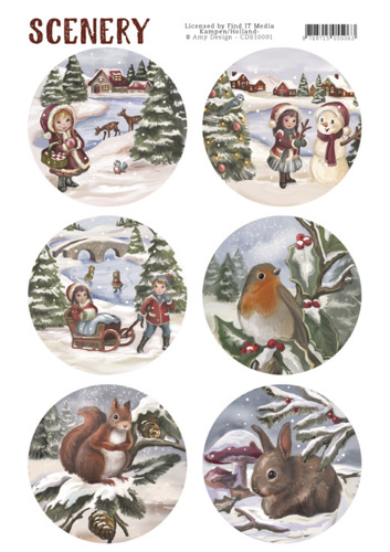 CDS10001 Die Cut Topper - Scenery - Kids and Animals