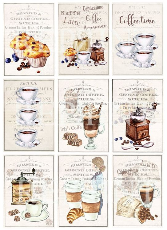 KP0051 Vintage Toppers A4 Coffe Time