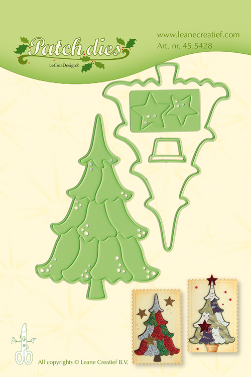 45.5428 Leabilitie® Patch die Christmas tree snij en embossing mal