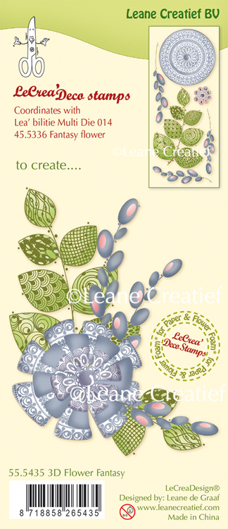 55.5435 LeCreaDesign® clear stamp 3D Fantasy Flower