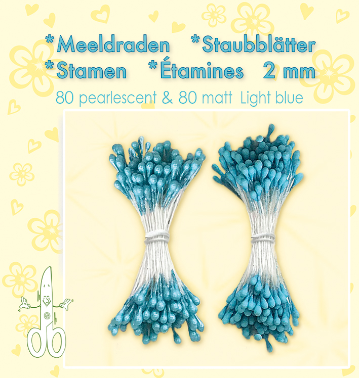 26.5220 Meeldraden 2mm, ±80 matt & 80 pearl Light Blue