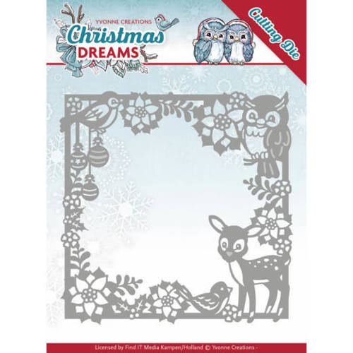 YCD10140 Dies - Yvonne Creations - Christmas Dreams - Christmas Animal Frame
