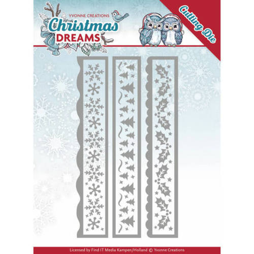 YCD10141 Dies - Yvonne Creations - Christmas Dreams - Christmas Borders