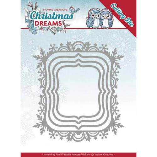 YCD10142 Dies - Yvonne Creations - Christmas Dreams - Christmas Borders