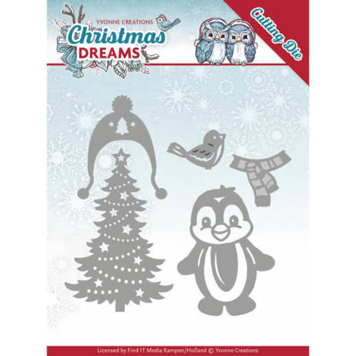 YCD10144 Dies - Yvonne Creations - Christmas Dreams - Christmas Penguin