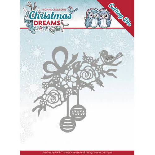 YCD10146 Dies - Yvonne Creations - Christmas Dreams - Bauble Ornament