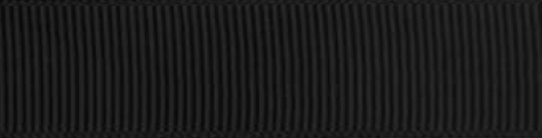 SR1402/25 PG030 Grosgrain Ribbons 25mm 20mtr black
