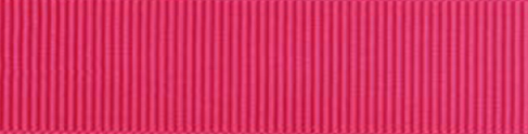 SR1402/25 PG175 Grosgrain Ribbons 25mm 20mtr shocking pink
