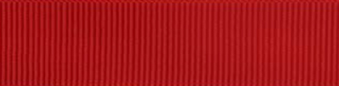 SR1402/25 PG250 Grosgrain Ribbons 25mm 20mtr red
