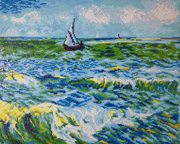 DD12.029 DIAMOND DOTZ® - 63x53cm - Seascape at Saint Maries (Van Gogh)