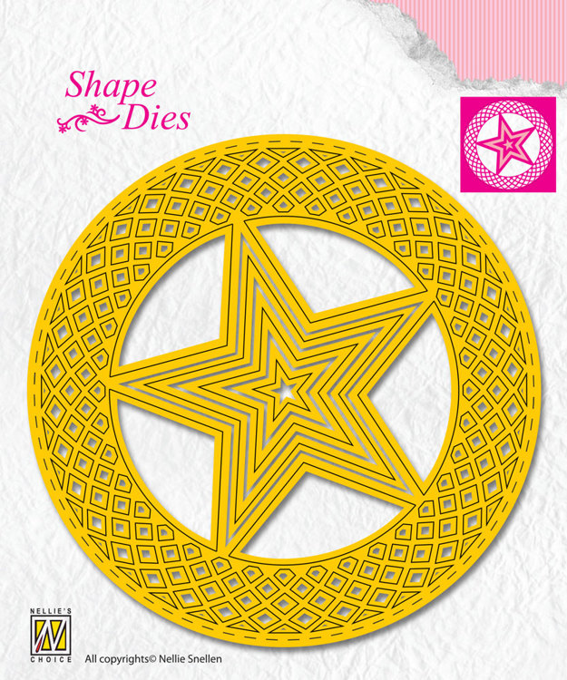 SD159 Shape Dies 5-point stars in circle