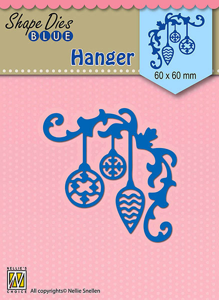 SDB069 Shape Dies Blue Christmas hanger-2 60x60mm
