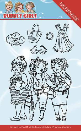 YCCS10045 Clear Stamps - Yvonne Creations - Bubbly Girls - Girlfriends