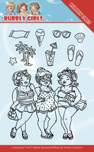 YCCS10042 Clear Stamps - Yvonne Creations - Bubbly Girls - Beach Girls