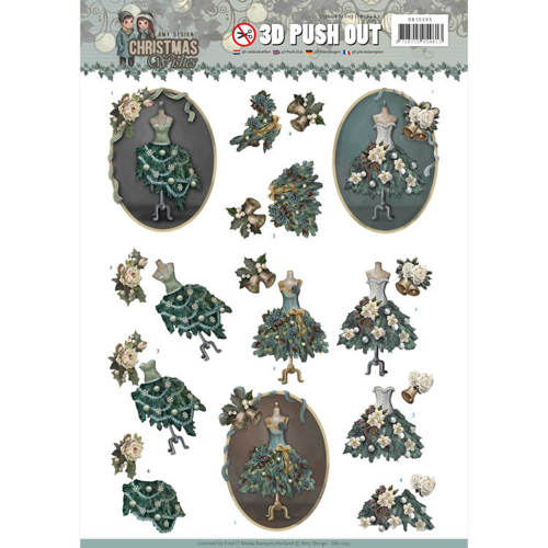 SB10293 3D Pushout - Amy Design - Christmas Wishes - Well Dressed