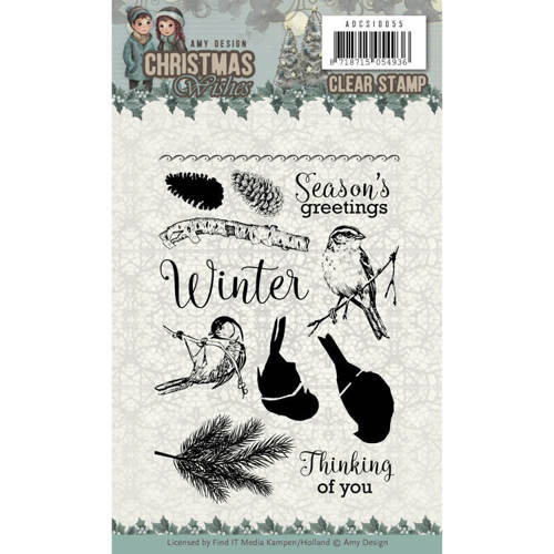 ADCS10055 Clear Stamps - Amy Design - Christmas Wishes