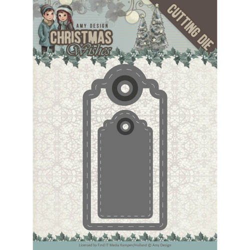 ADD10153 Dies - Amy Design - Christmas Wishes - Wishing Labels