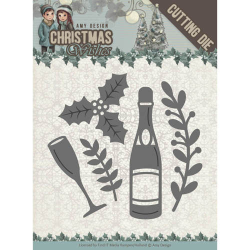 ADD10152 Dies - Amy Design - Christmas Wishes - Champagne