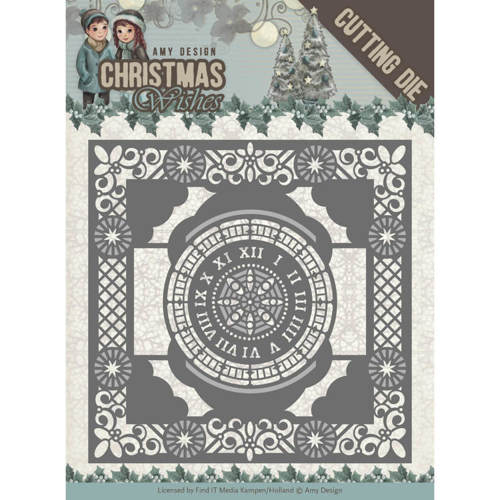 ADD10148 Dies - Amy Design - Christmas Wishes - Twelve O'clock frame