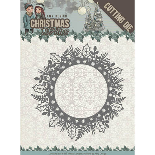 ADD10149 Dies - Amy Design - Christmas Wishes - Holly Wreath