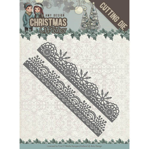 ADD10150 Dies - Amy Design - Christmas Wishes - Snowflake Borders