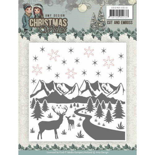 ADEMB10010 Cut and Emboss Folder - Amy Design - Christmas Wishes