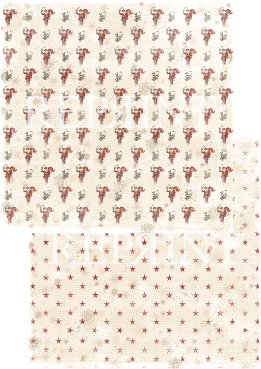 RP0237 Nordic Light Collection Patterned paper 12x12, 200 gm Santa is coming